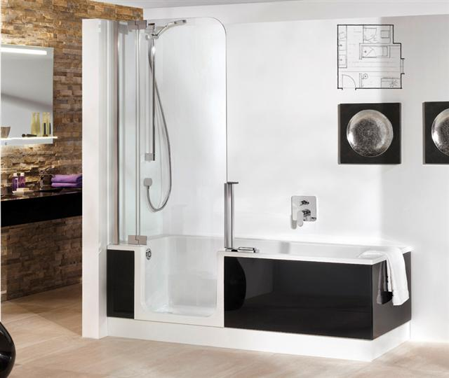 baignoire douche 2 en 1 baignoire douche 2 en 1 en d tails. Black Bedroom Furniture Sets. Home Design Ideas